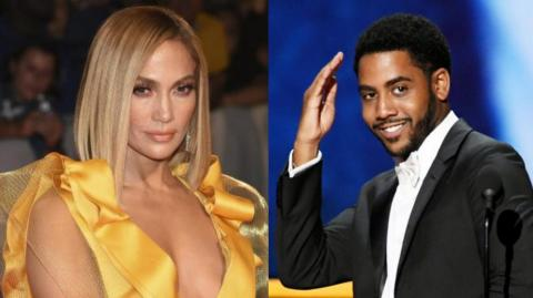 Jennifer Lopez y Jharrel Jerome.