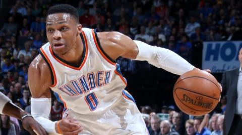 Russel Westbrook, base de los Thunder de Oklahoma City.