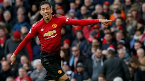 El jugador Chris Smalling, del Manchester United.