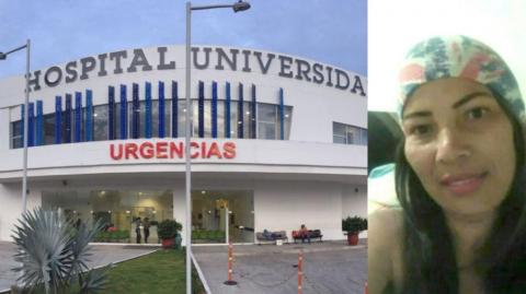 Neis Janeth Carrillo Romo murió en el hospital Universidad del Norte.