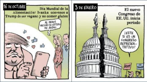 Caricaturas políticas del The New York Times.