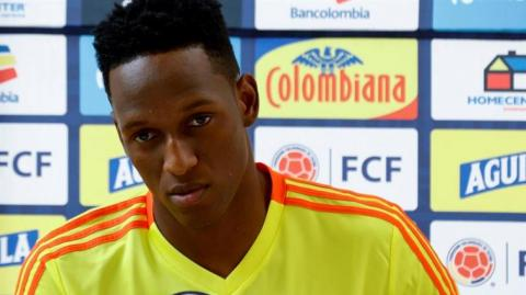 El defensor colombiano Yerry Mina.