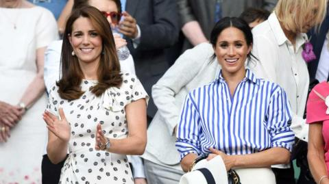 Kate Middleton, duquesa de Cambridge y Meghan Markle, duquesa de Sussex.