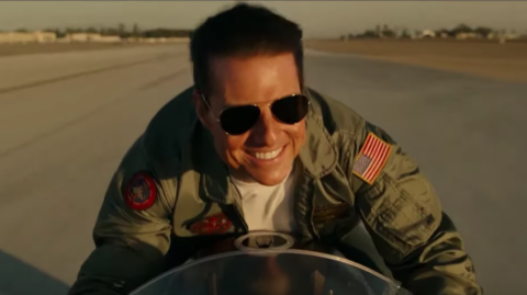 Tom Cruise como Pete Mitchel en 'Top Gun: Maverick'.