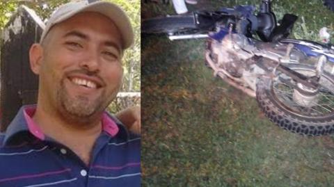 Alfredo Mercado Díaz, motociclista fallecido en accidente.