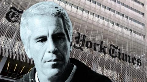 Imagen de referencial de Epstein y The New York Times.