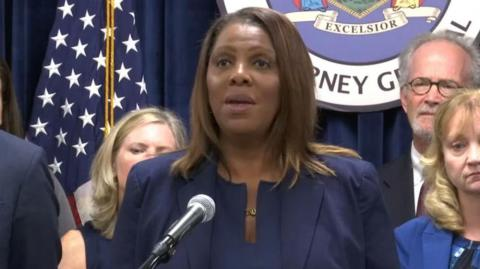 Letitia James, fiscal general de Nueva York.