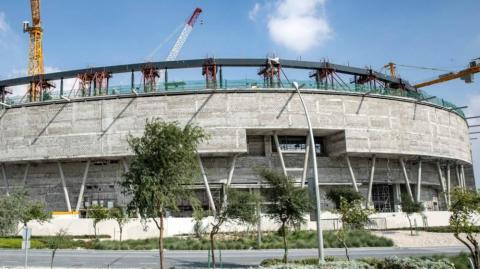 El estadio Education City, escenario bajo construcción.