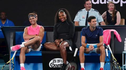 Rafael Nadal, Serena Williams y Novak Djokovic.