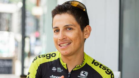 Esteban Chaves, pedalista colombiano.