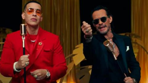 Daddy Yankee y Marc Anthony.