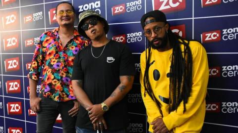 Fredy Harel, Freezy Fromx y Hanibal Hernández, integrantes de Bazurto All Stars.