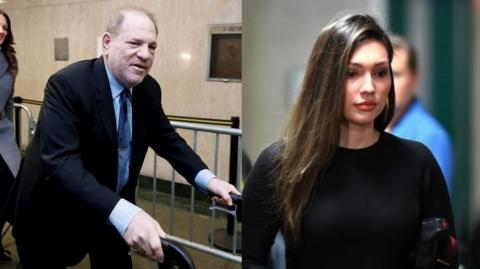 Harvey Weinstein y Jessica Mann.