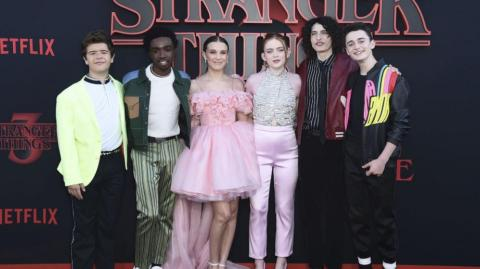 Elenco de la serie 'Stranger things'.