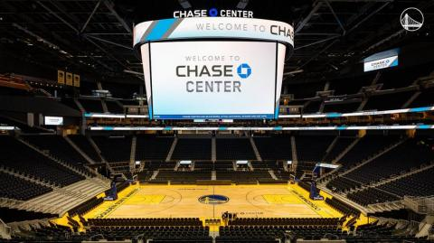 Chase Center, hogar de los Golden State Warriors.