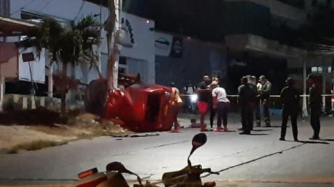 Accidente en el que murió Moisés David Díaz.