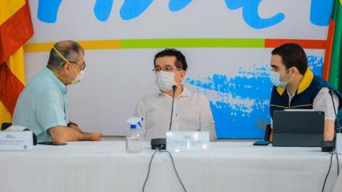 William Dau, Fernando Ruiz y Vicente Blel.
