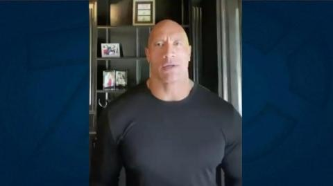 El actor Dwayne Johnson.