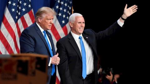 Donald Trump, presidente de Estados Unidos; y Mike Pence, vicepresidente.