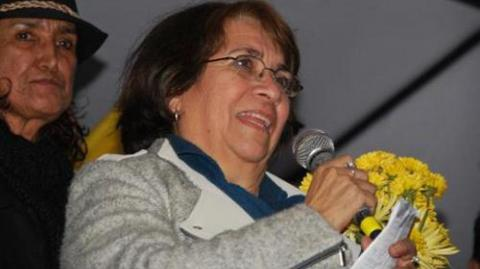 Aida Avella, presidenta de la  UP.